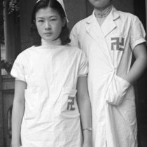 Two Red Swastika Society nurses, Shanghai