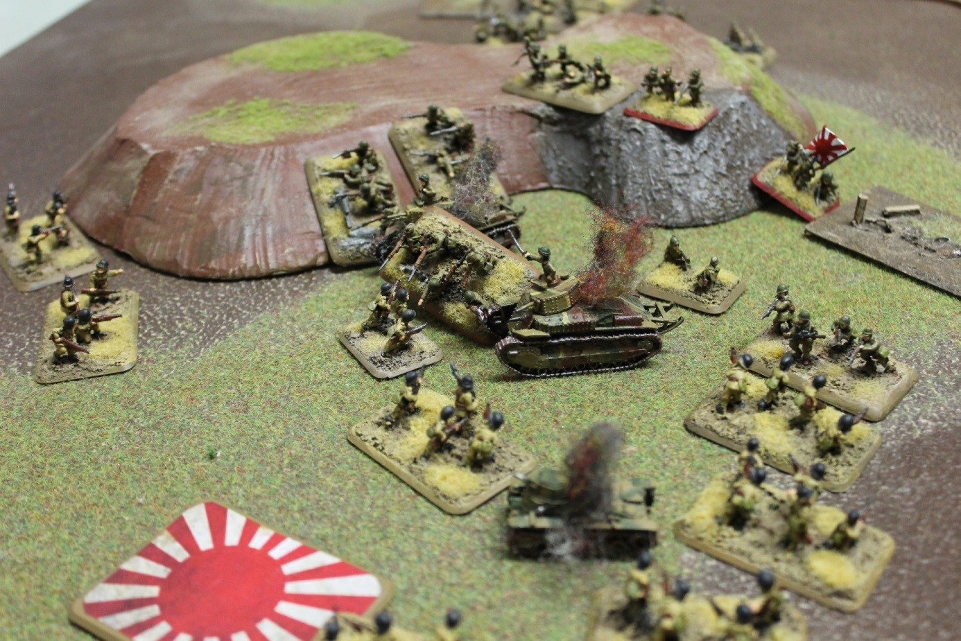 The Japanese advance rapidly after they fail company morale under the No Surrender rule.