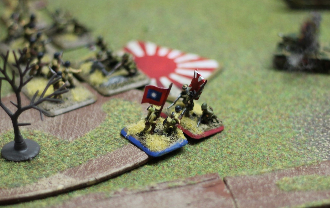 The Japanese mercilessly cut down the remaining Chinese around the objective.