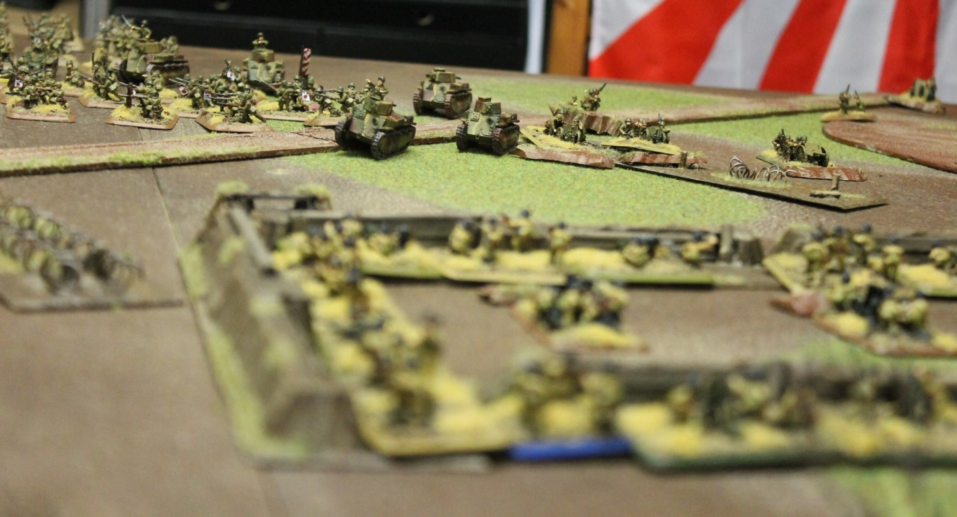 The Chinese spring their ambush to deal with the Japanese armour.