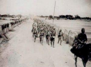 Japanese troops on Marco Polo Bridge